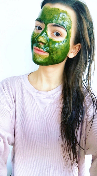At home matcha mask