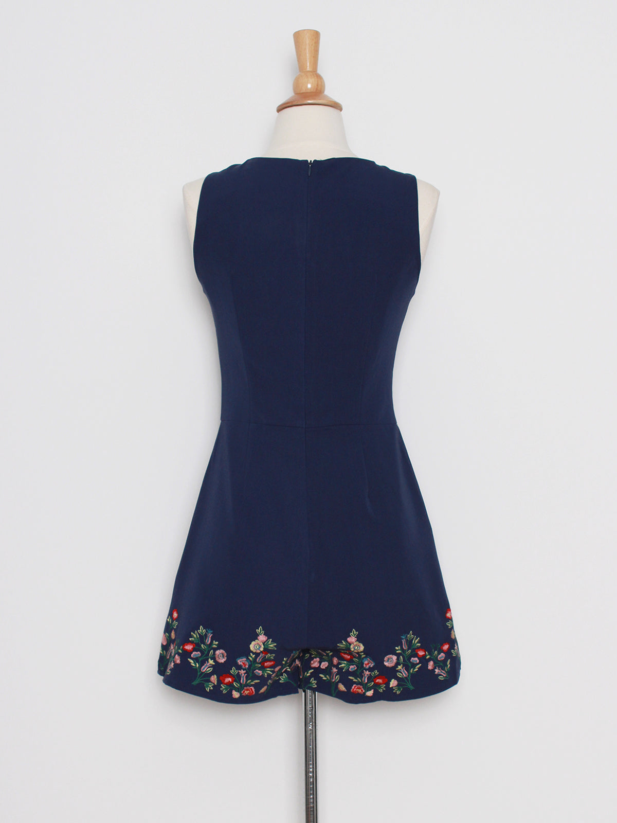 Aura Embroidered Playsuit in Navy