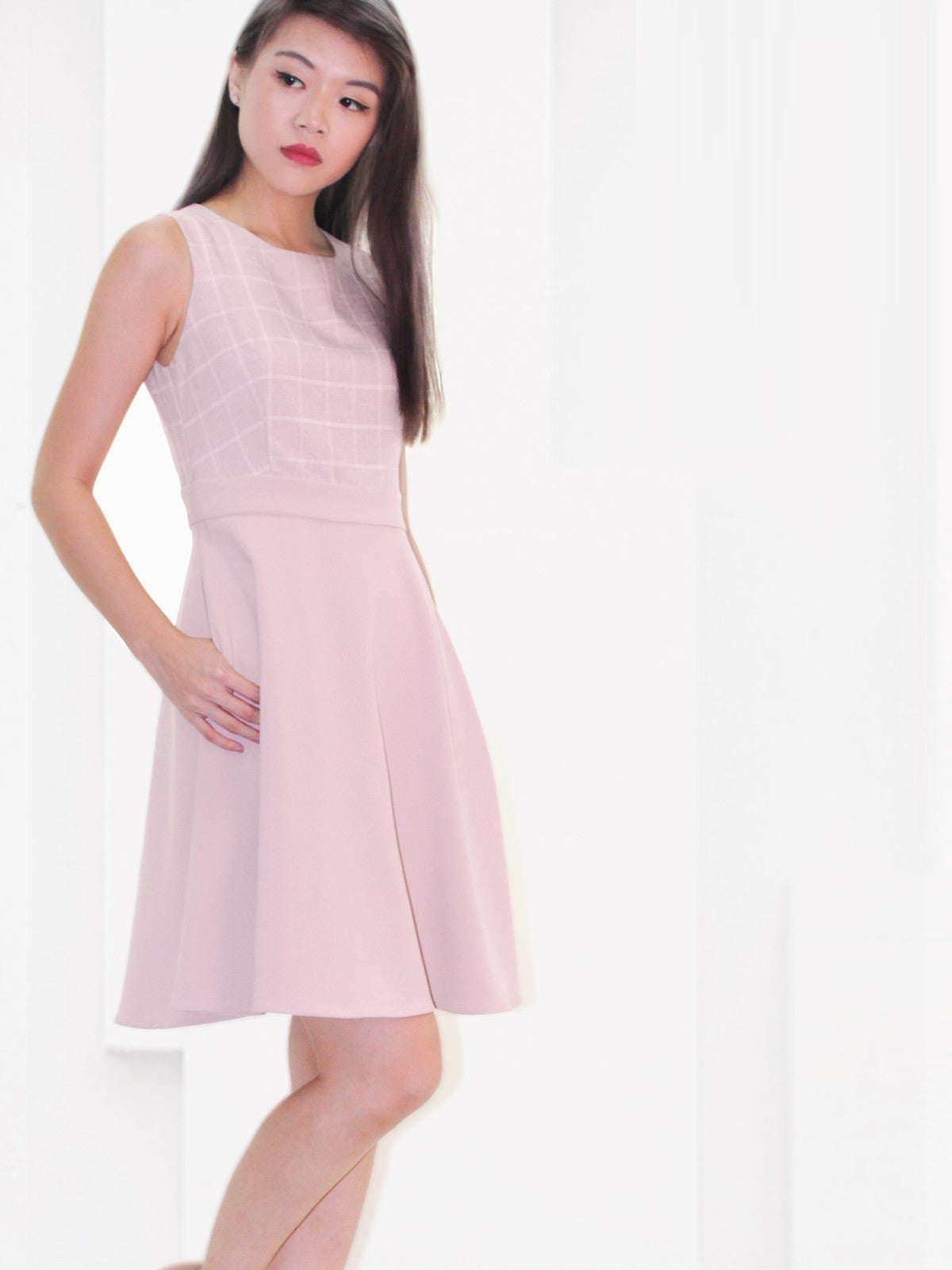 Natalie Skater Dress Blush
