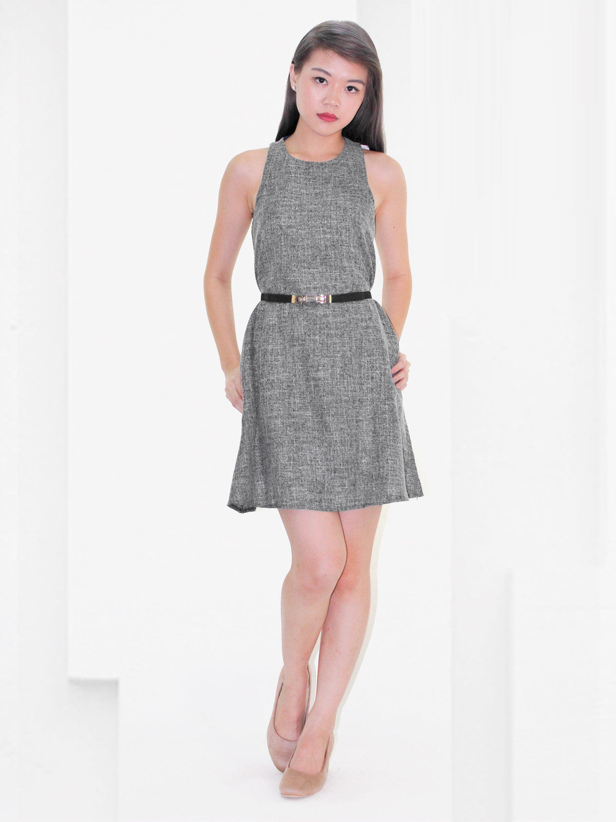Adelyn Contemporary Dress Charcoal