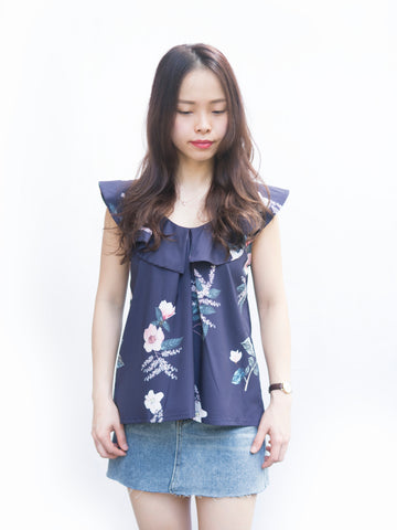 Gracias Floral Frilly blouse
