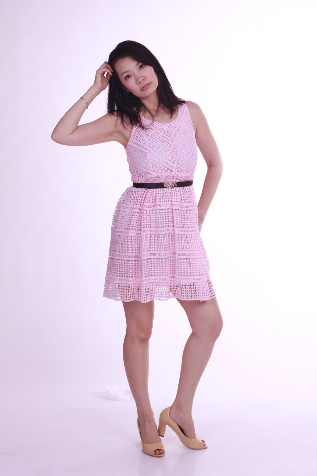 Addilyn Skater Dress Pink