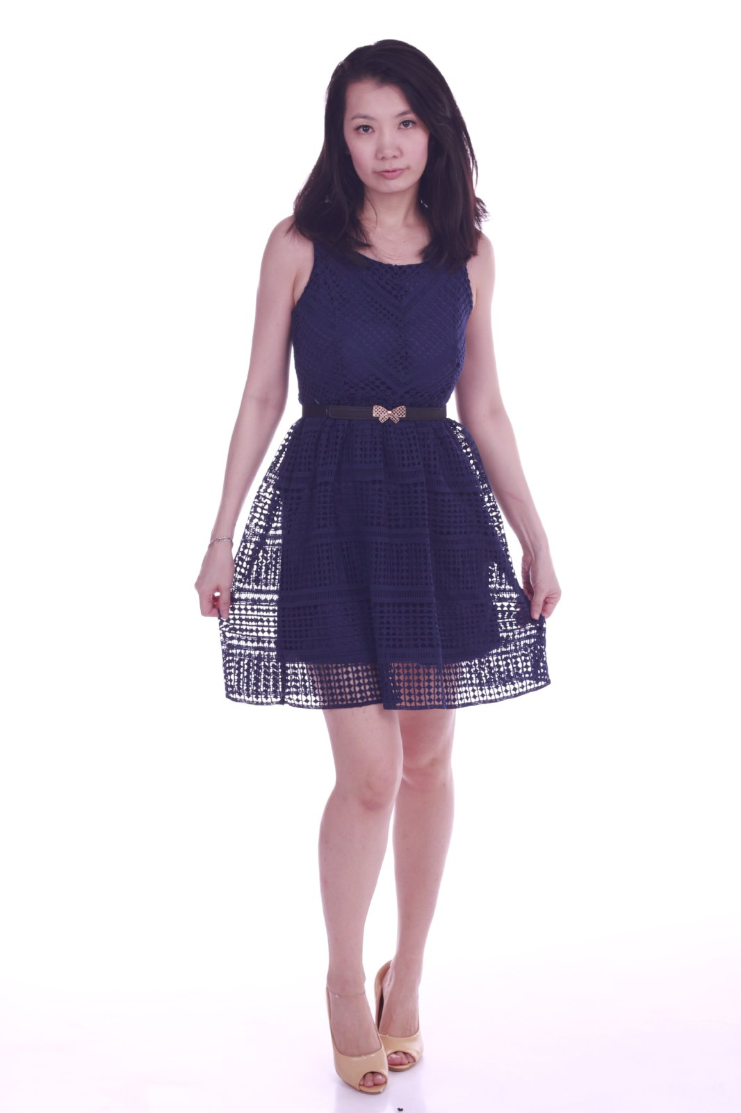 Addilyn Skater Dress Blue
