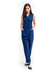 Hayley Chic Jumpsuit Navy