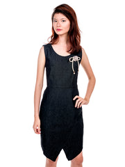 Jayne Front Slit Sheath Dress