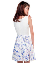 Laken Skater Dress in White