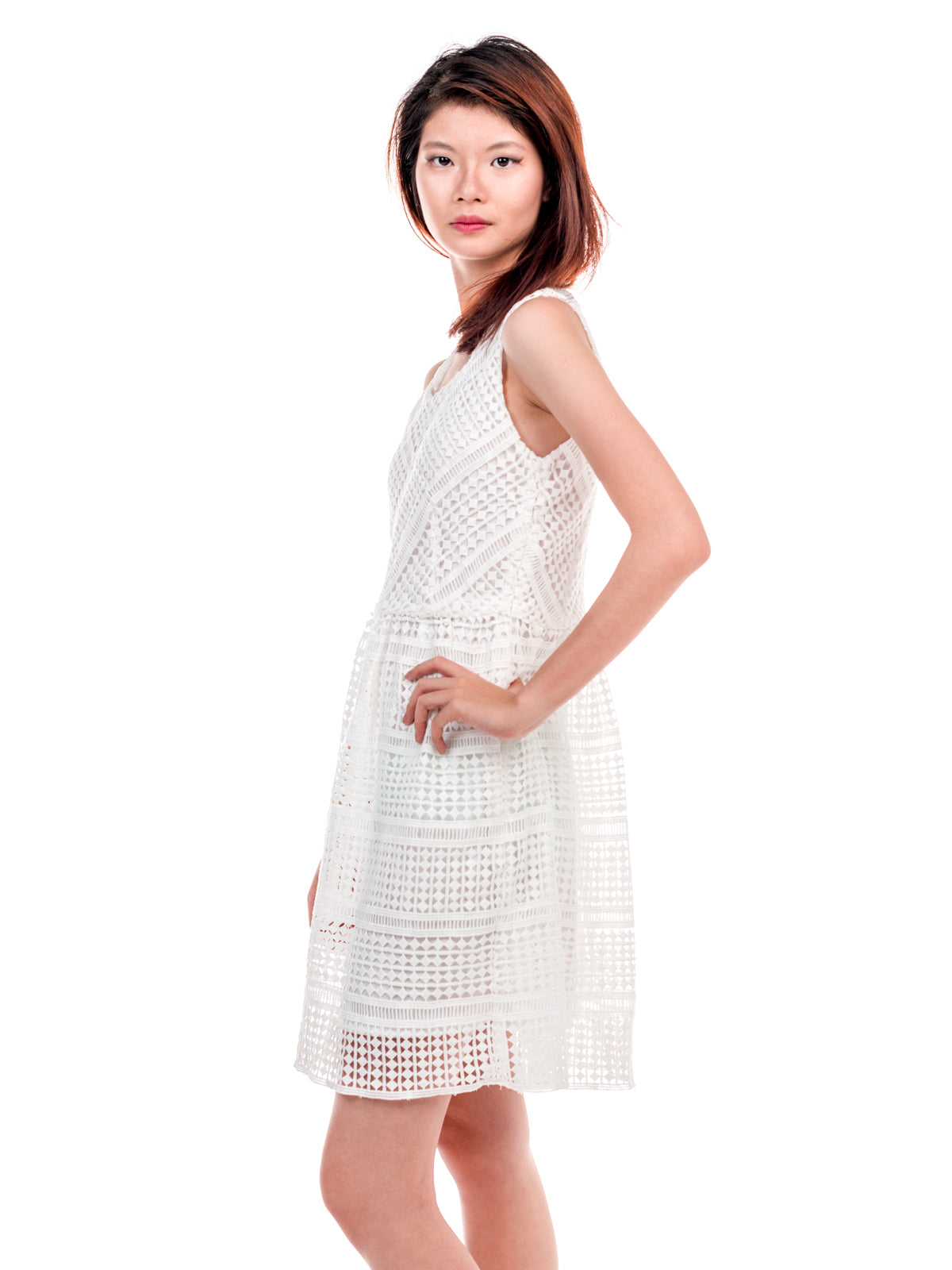 Addilyn Skater Dress White