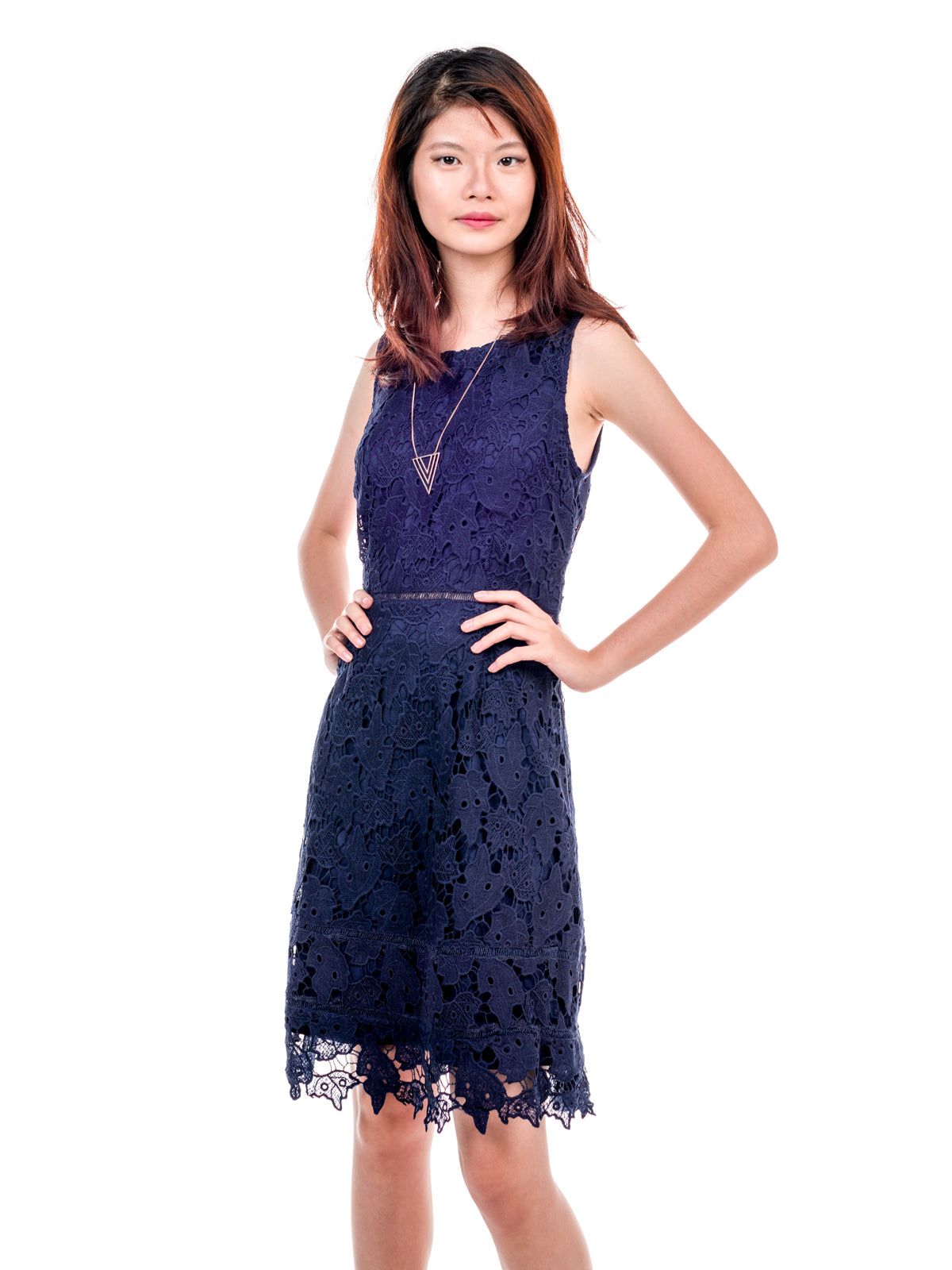 Fleur Crochet Sheath Dress