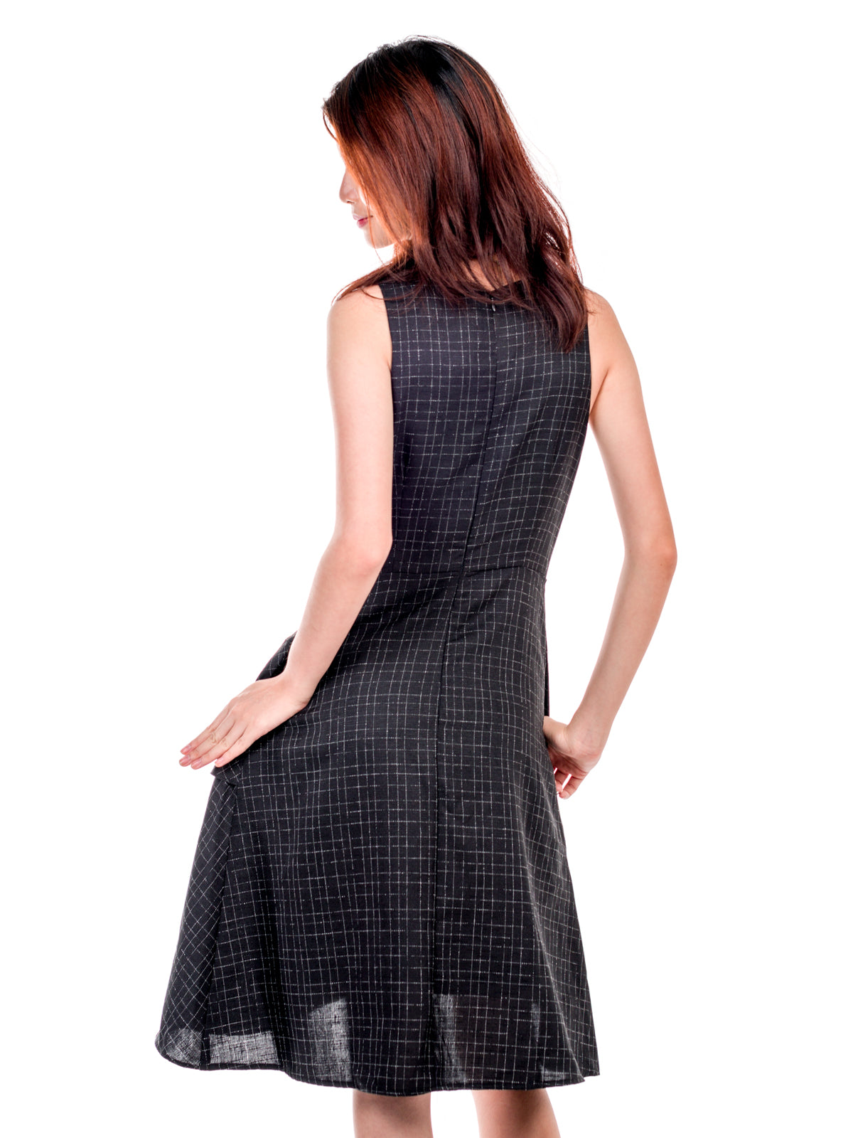 Paislee Checkered Asymmetrical Dress