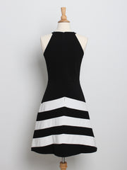 Tiffany Striped Midi Dress White