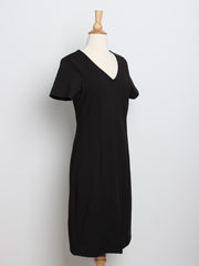 Elle Classic Dress with Belt Black