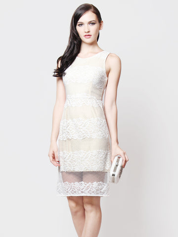 Vivenne Occasion Lace Dress Vanilla