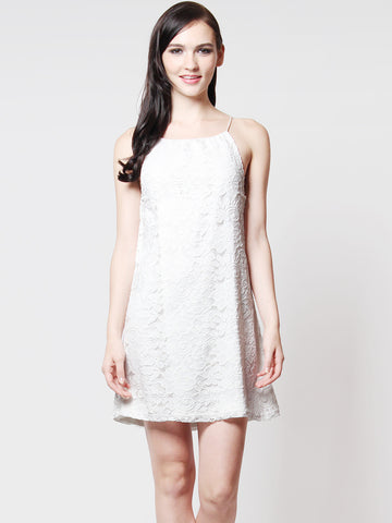 Kylie Lace Crochet Relax Dress White