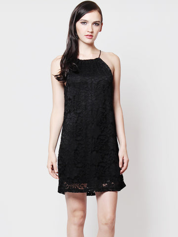 Kylie Lace Crochet Relax Dress Black