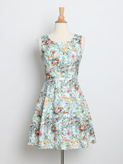 Emma Sweet Floral Dress Mint