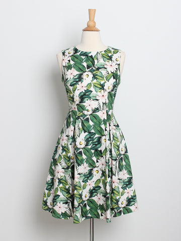 Isabelle Printed Dress Garden *Backorder*