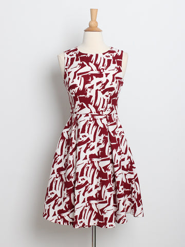 Isabelle Printed Dress Red *Backorder*