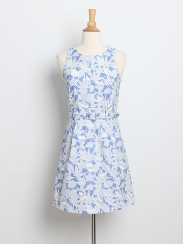 Desiree Belted Dress Printed