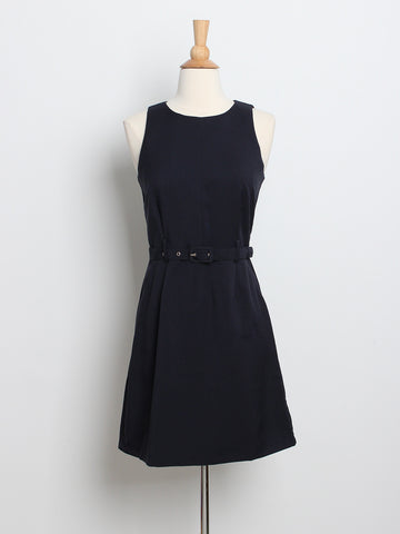 Desiree Belted Dress Navy