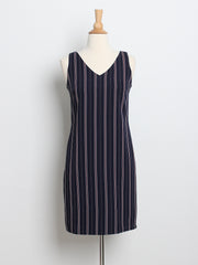 Jesse Pinstripes Work Dress Navy