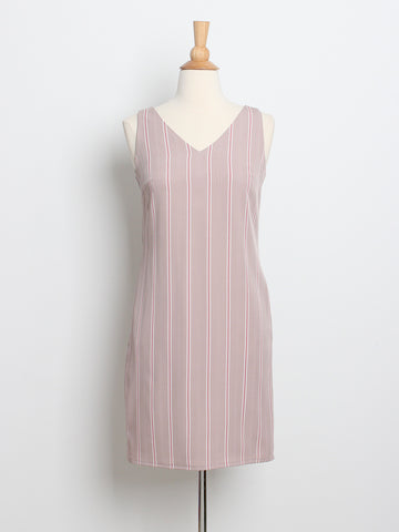 Jesse Pinstripes Work Dress Pink