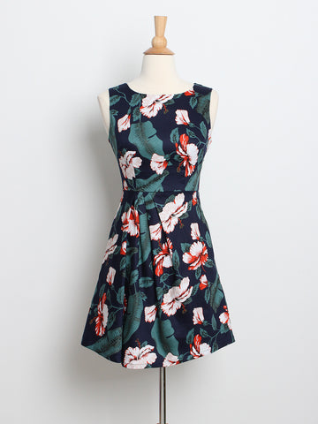 Kyra Work Dress Floral Print
