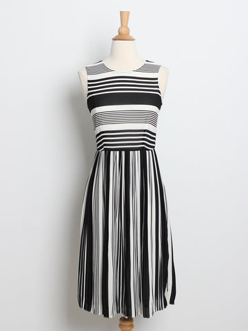 Helena Striped Midi Dress
