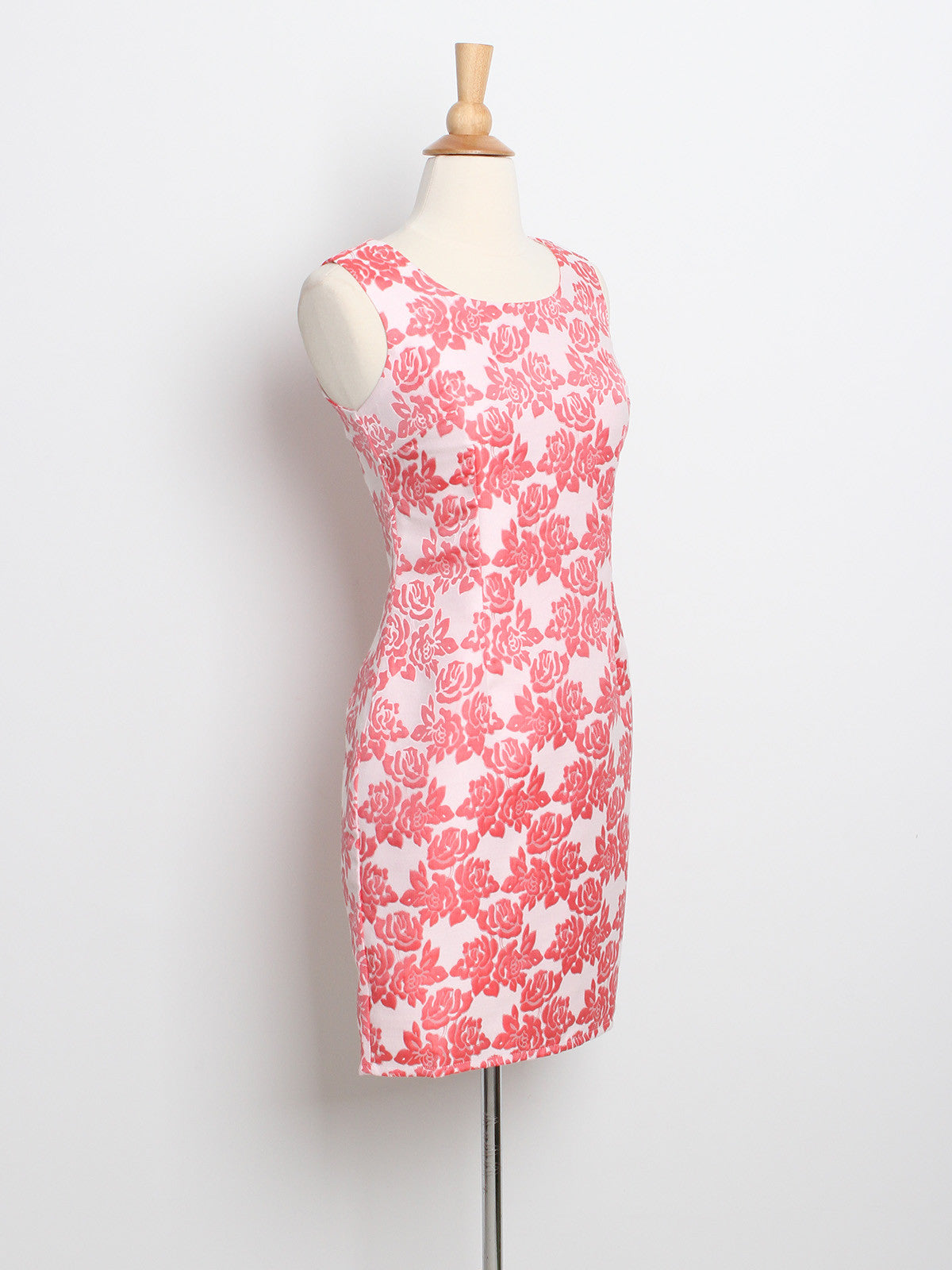 Brianne Chinoiserie Shift Dress Coral