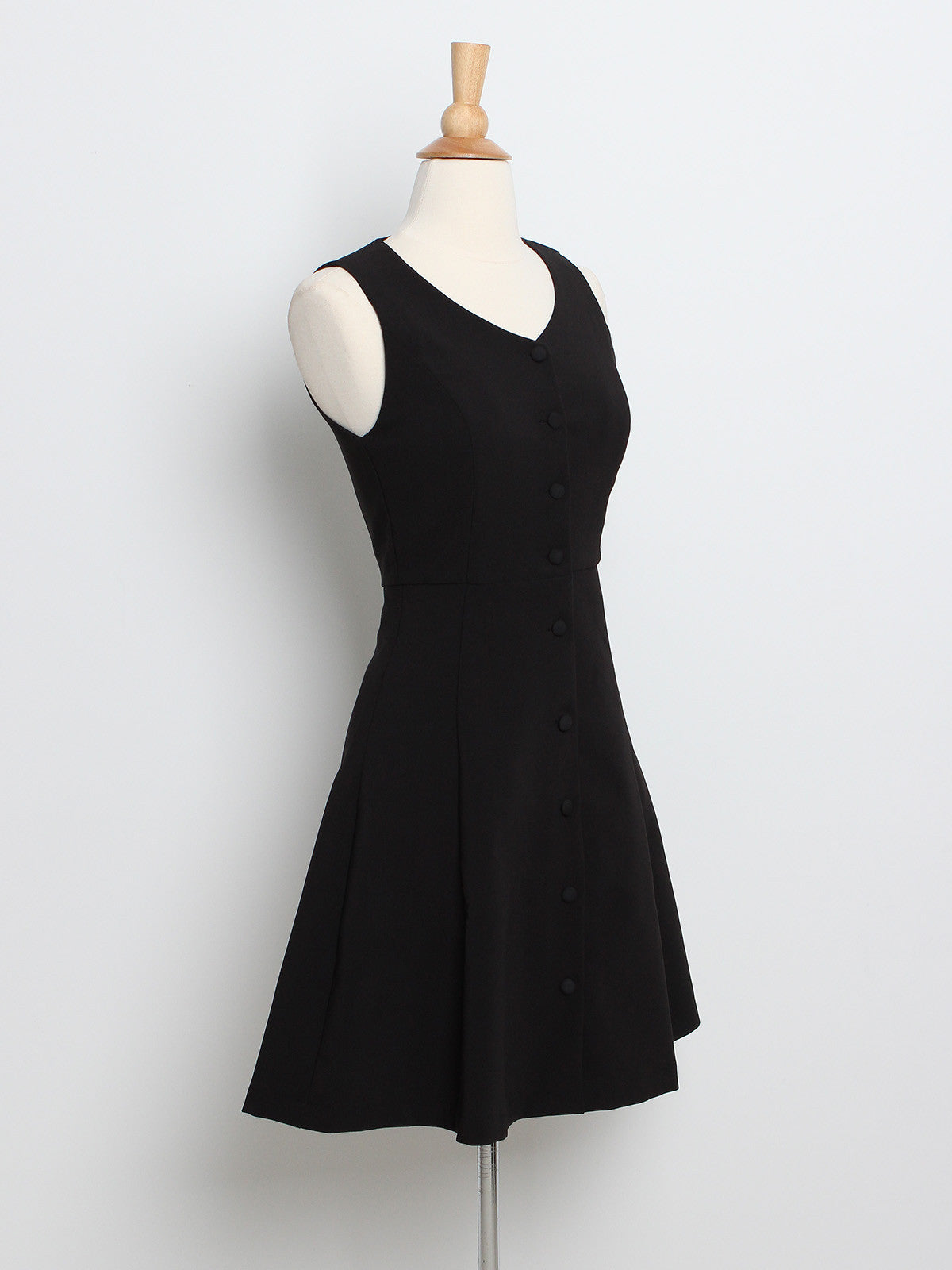 Seraphina Button Down Dress Black