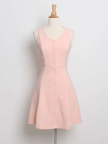 Seraphina Button Down Dress Pink