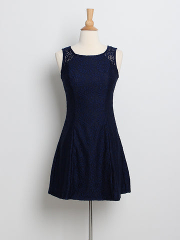 Kelly Lace Dress Navy