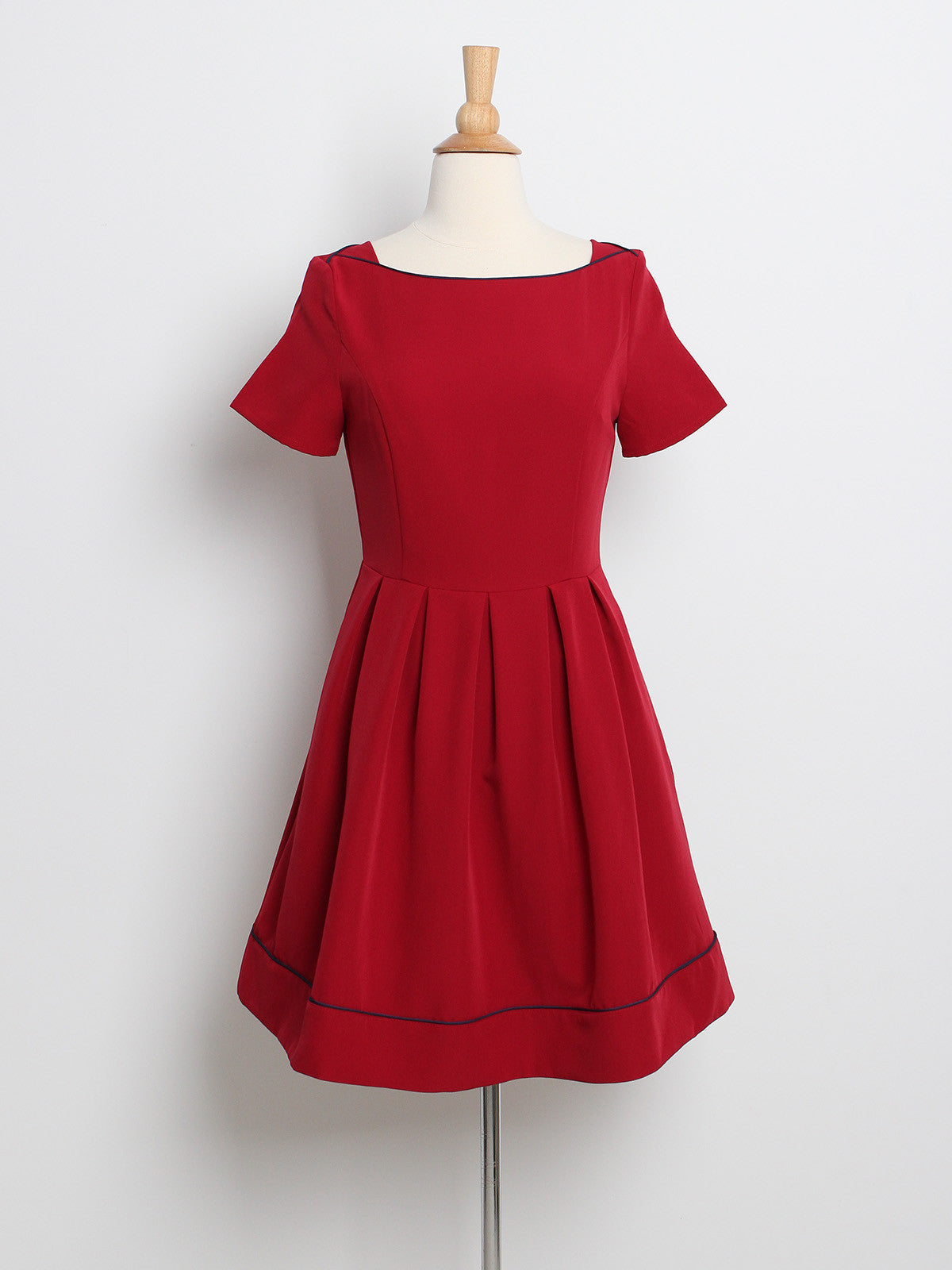 Samantha Sleeved Dress Wine