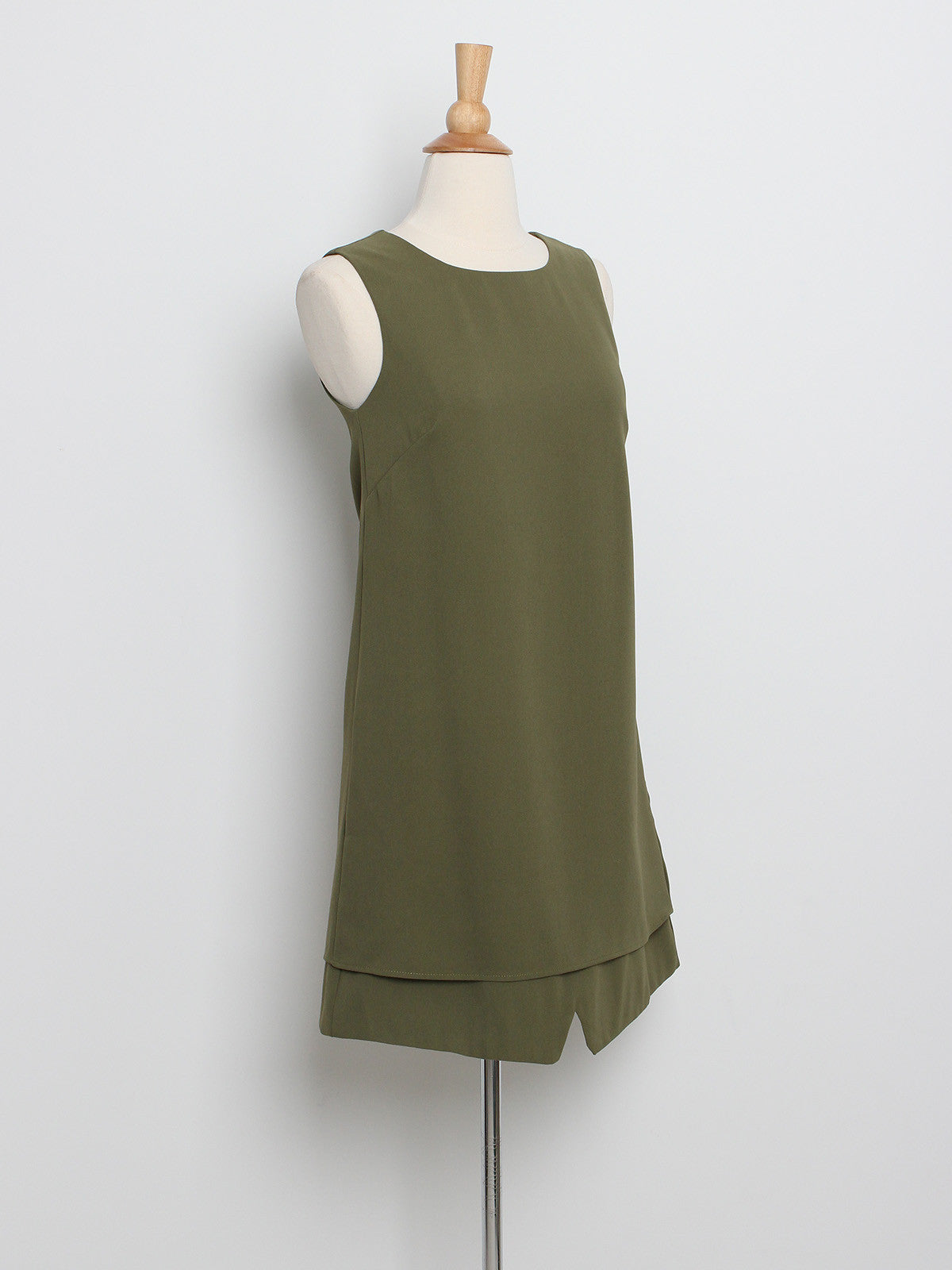 Adele Basic Shift Dress Green
