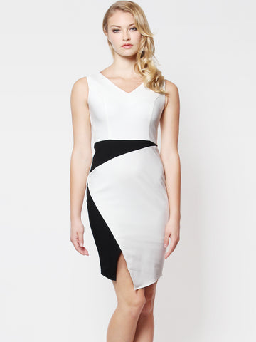 Daphne Colourblock Dress Mono