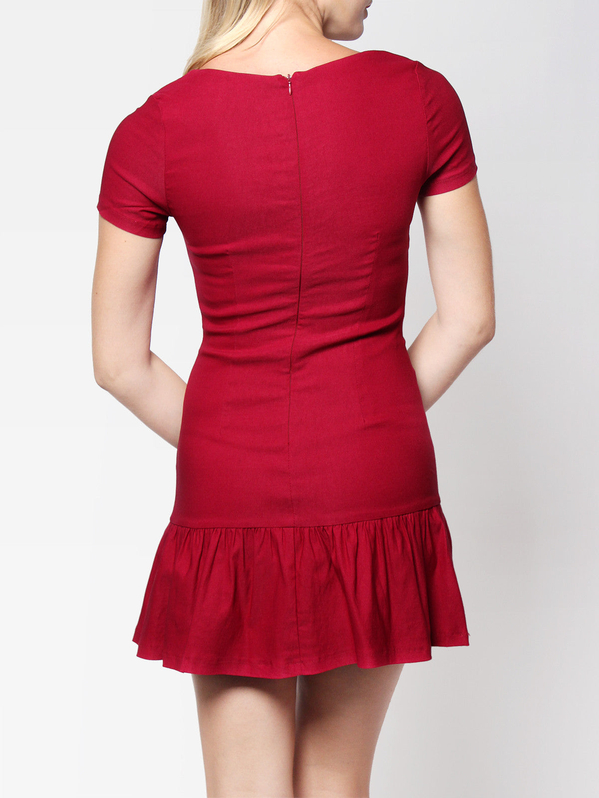 Sophie Dropwaist Dress Magenta