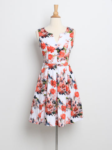 Jerlyn Floral Dress Coral