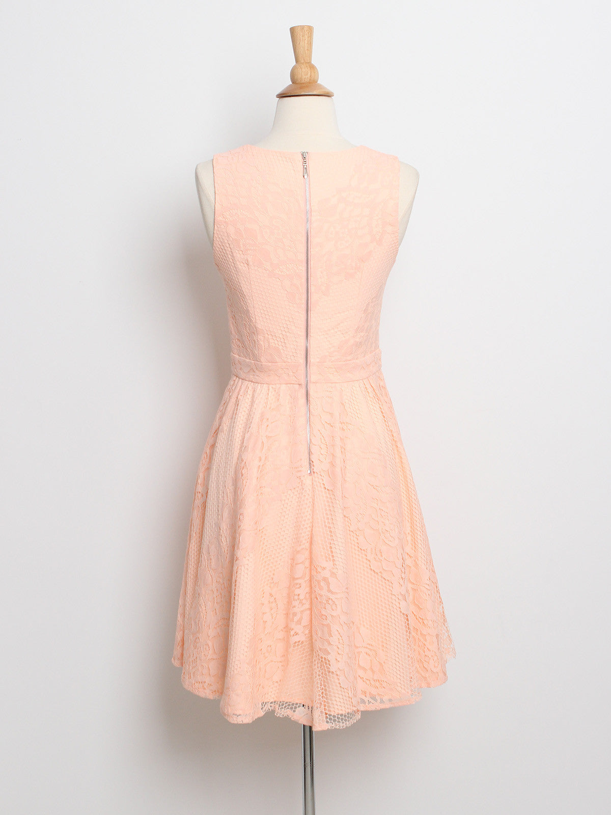 Carina Lace Dress Peach