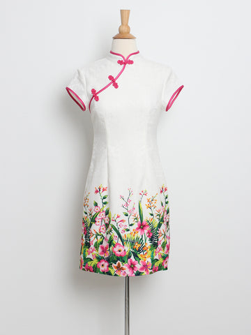 Eve Floral Placement Cheongsam