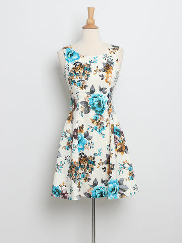 Misha Blossoms Dress Blue