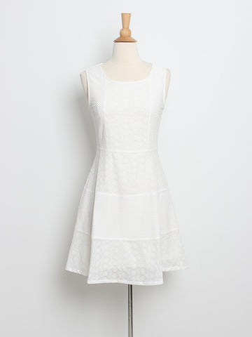 Sheryl Eyelet Dress White