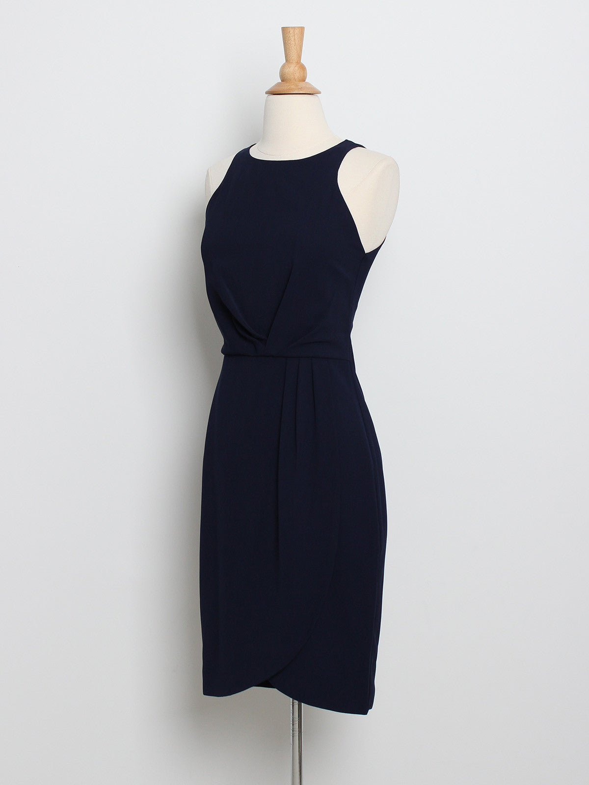 Helena Drape Dress Navy