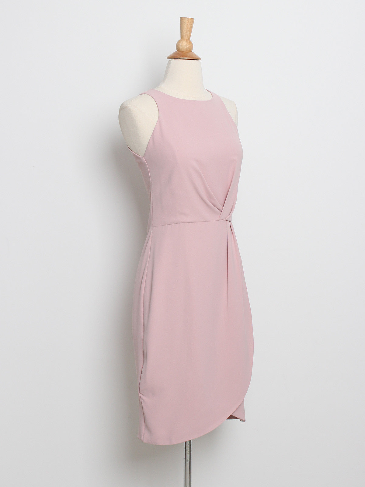 Helena Drape Dress Blush