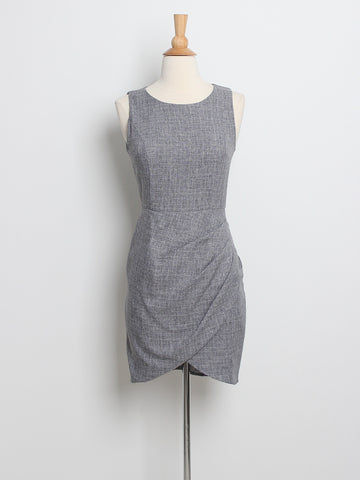 Aylene Overlap Executive Dress Grey