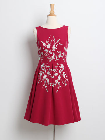 Spring Blooms Floral Dress Fuchsia