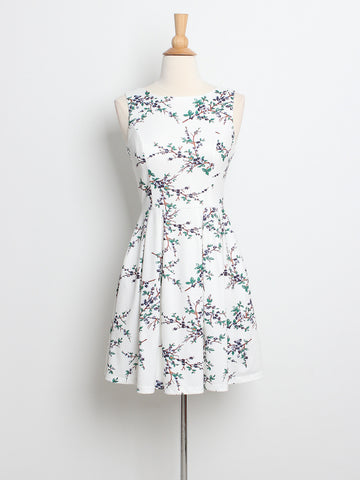 Cherry Blossoms Dress White