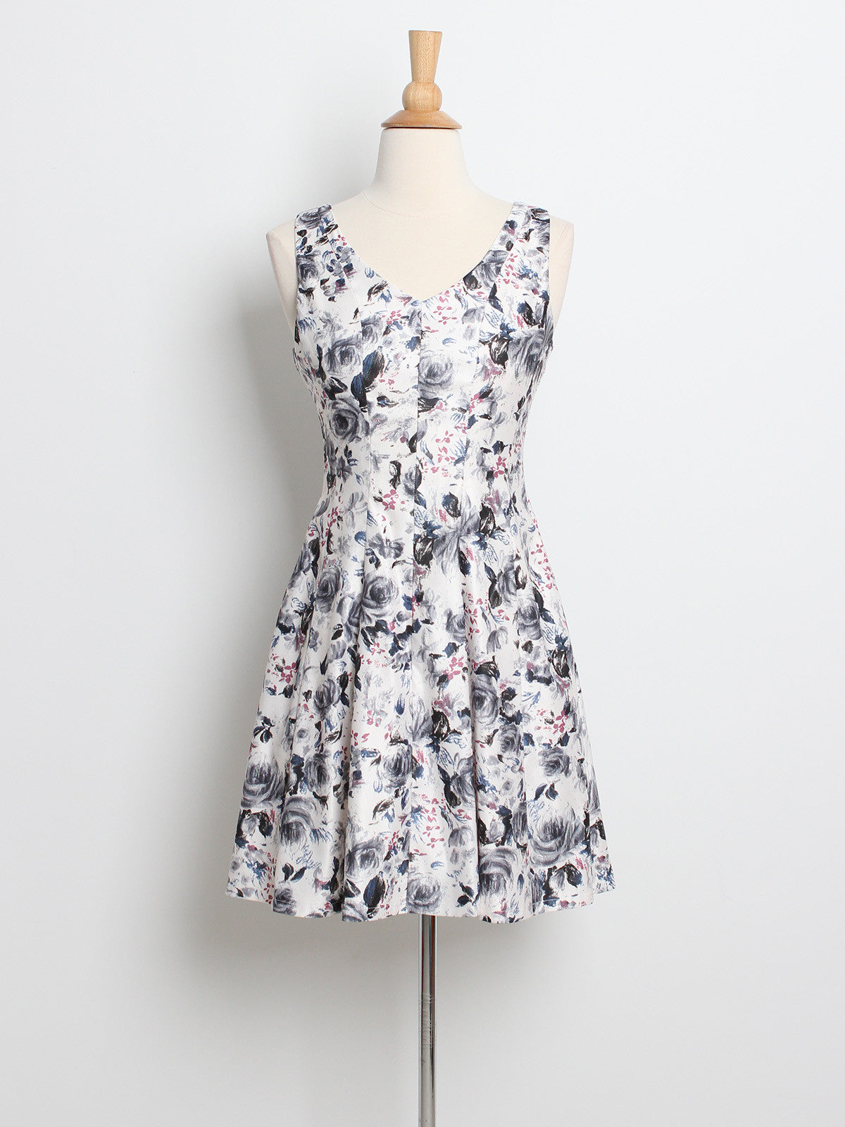 Lexie Spring Florals Dress Grey