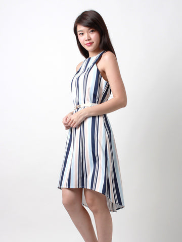 Trina High Low Hem Dress Sea