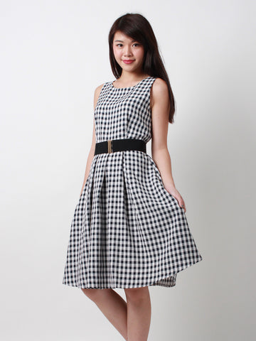Jane Classic Midi Dress Gingham