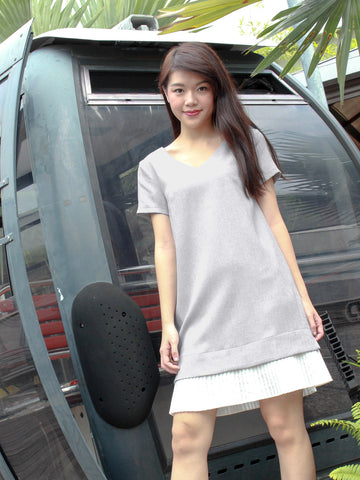 Hazel Sleeved Dress Ash
