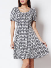 Delora Sleeved Skater Dress